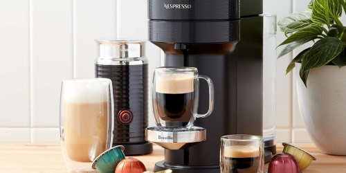 Nespresso Coffee & Espresso Maker w/ Milk Frother Bundle Only $103 Shipped After Bed Bath & Beyond Gift Card