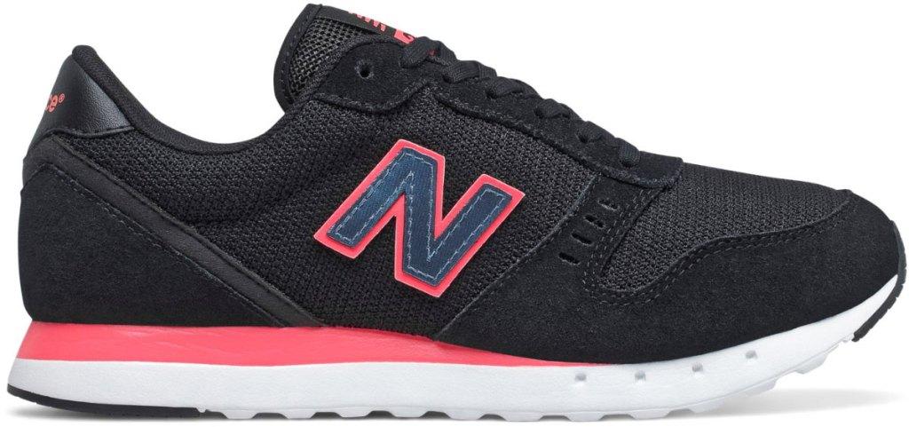 black and pink new balance shoe