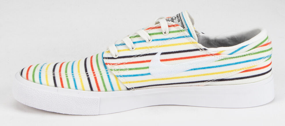 striped Nike sneakers