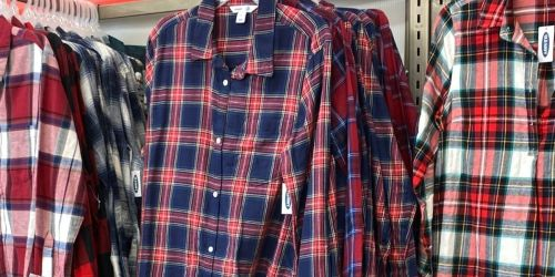50% Off Old Navy Men's & Boys Button-Down Shirts | Prices Start at $7.99