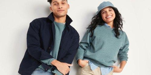 Old Navy Men's & Women's Sweatshirts from $11.97 (Regularly $25)