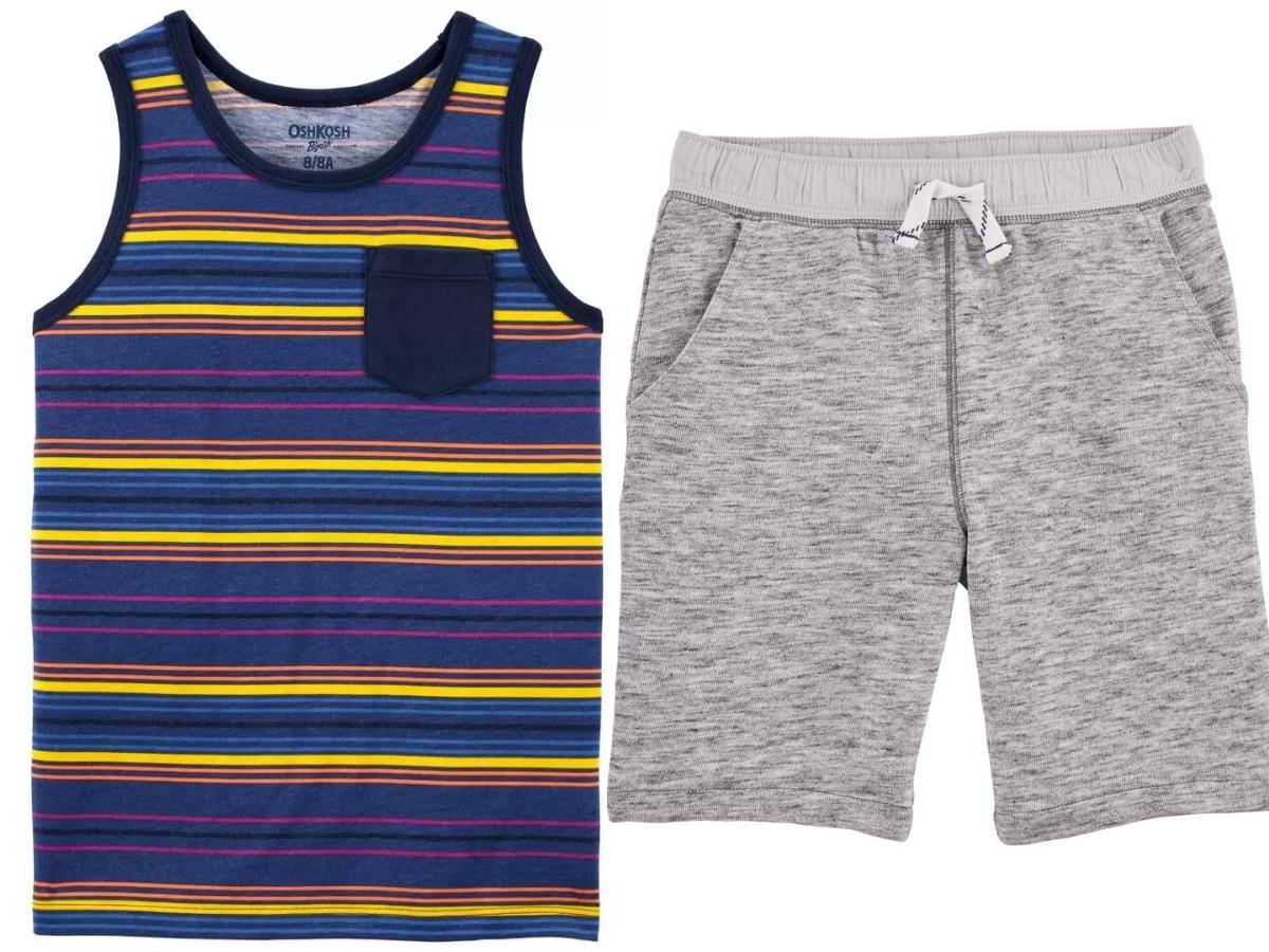 oshkosh/carters tank top and shorts for boys