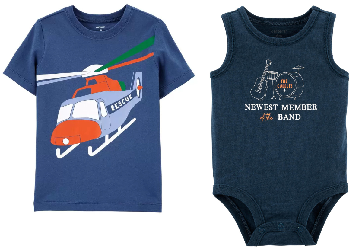 two toddler apparel pieces