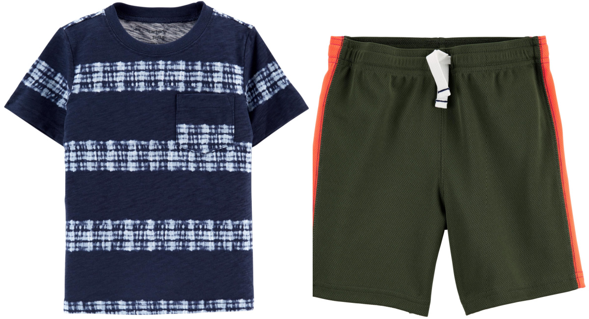toddler boys short and tee