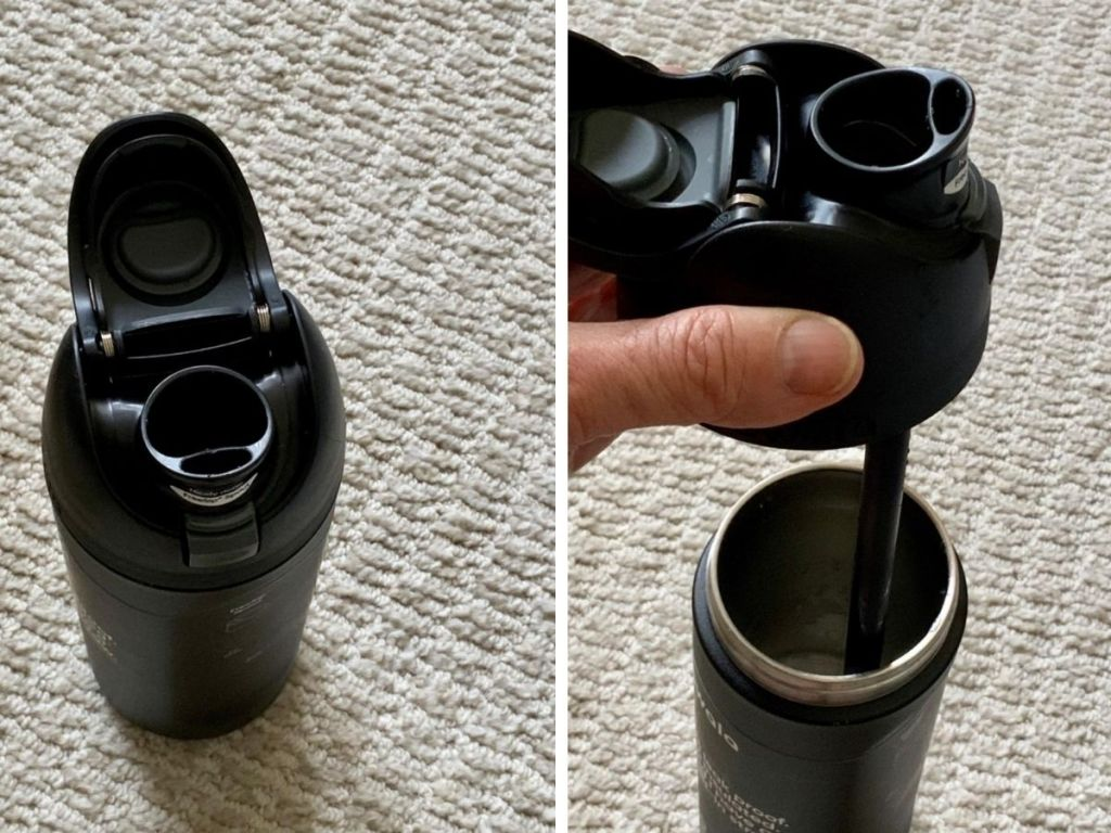 different views of opening on Owala water bottles