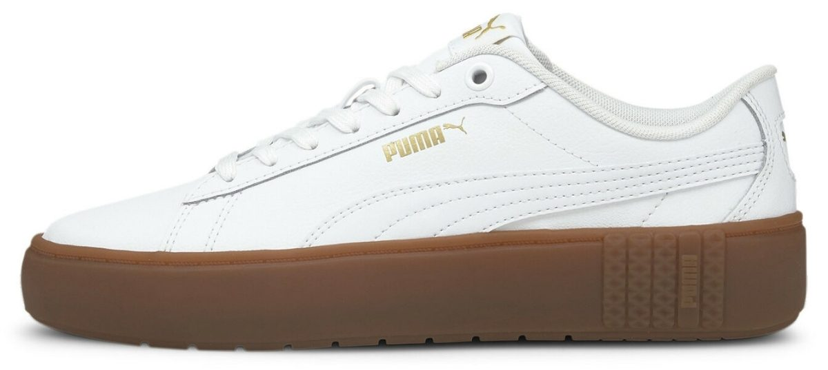 puma women's white platform smash v2 shoes