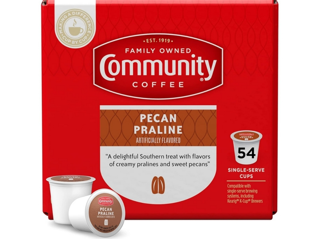 community coffee pecan praline k cups box