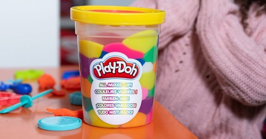 large bucket of Play-Doh