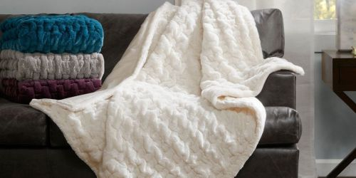 Faux Fur Throw Blankets from $22 on Target.com + More Online Bedding Deals