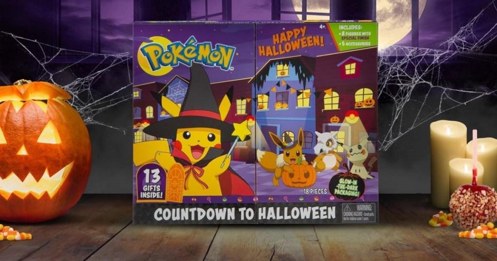 pokemon halloween calendar with halloween decor