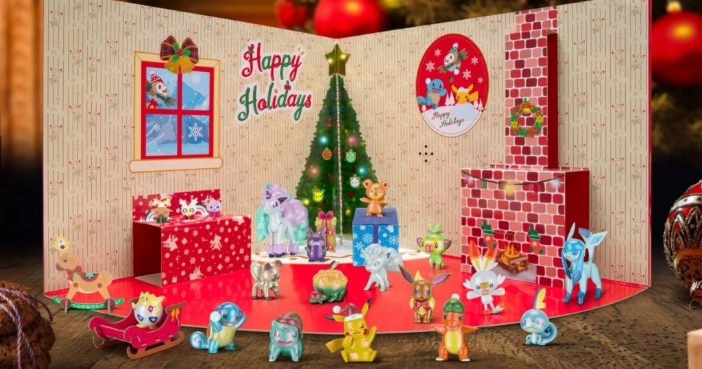 pokemon advent calendar deluxe version with characters out