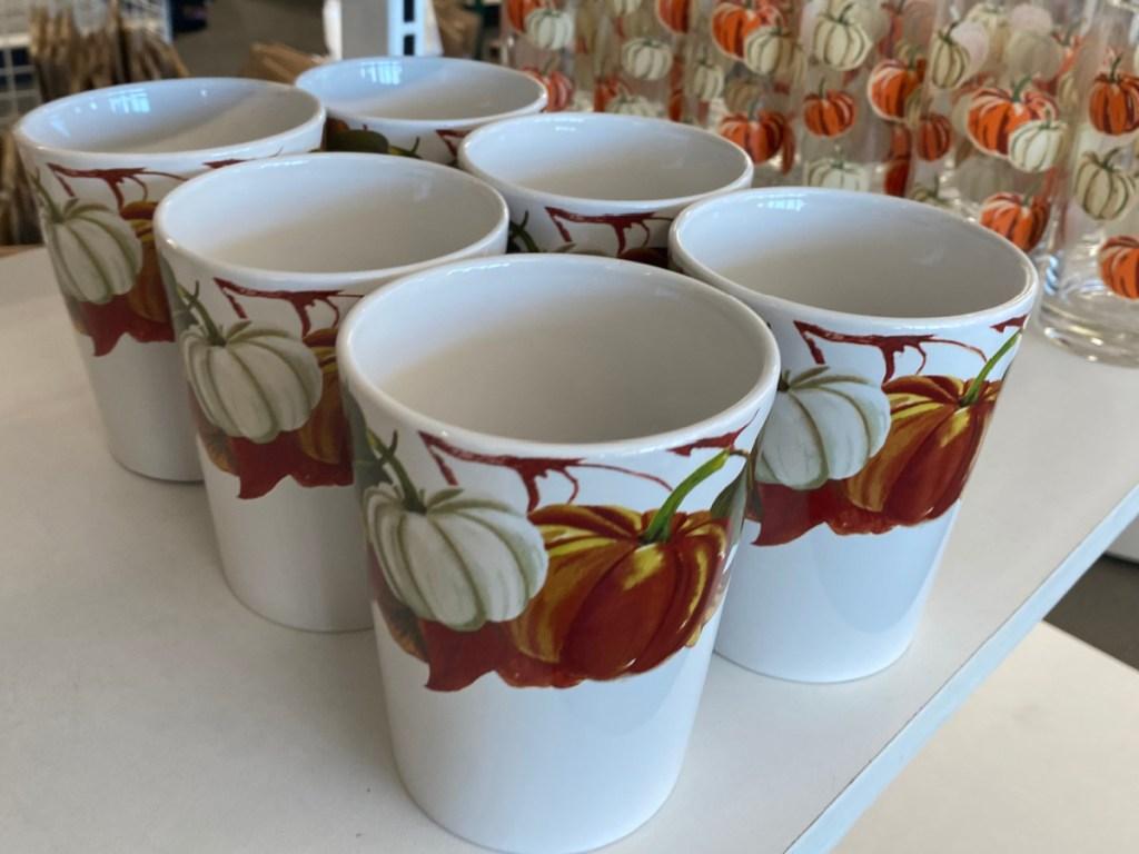 Pumpkin Themed Ceramic Mugs