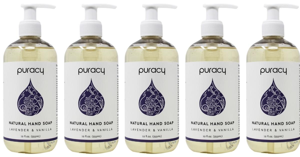 Puracy Natural Liquid Hand Soap Lavender & Vanilla 3-Count