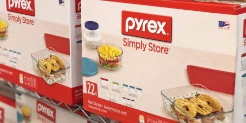 Pyrex 22-Piece Glass Food Storage Set Only $29.99 Shipped on Macys.com (Regularly $72)