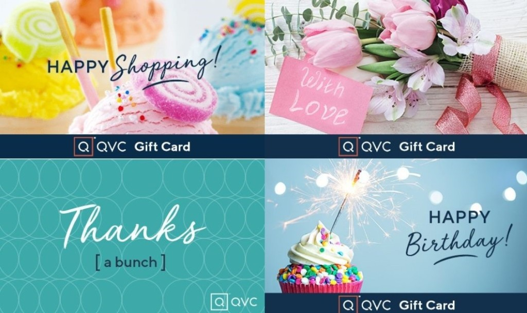 four QVC gift cards