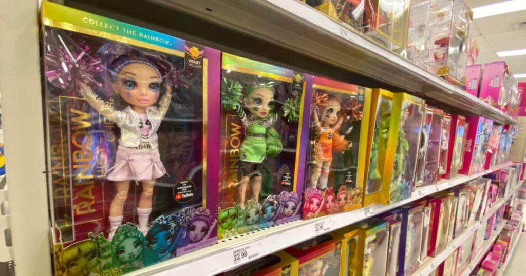 toy dolls on shelf