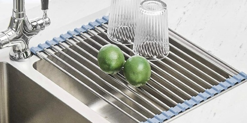 Roll Up Dish Drying Rack Only $8.90 on Amazon (Regularly $17) | Awesome Reviews