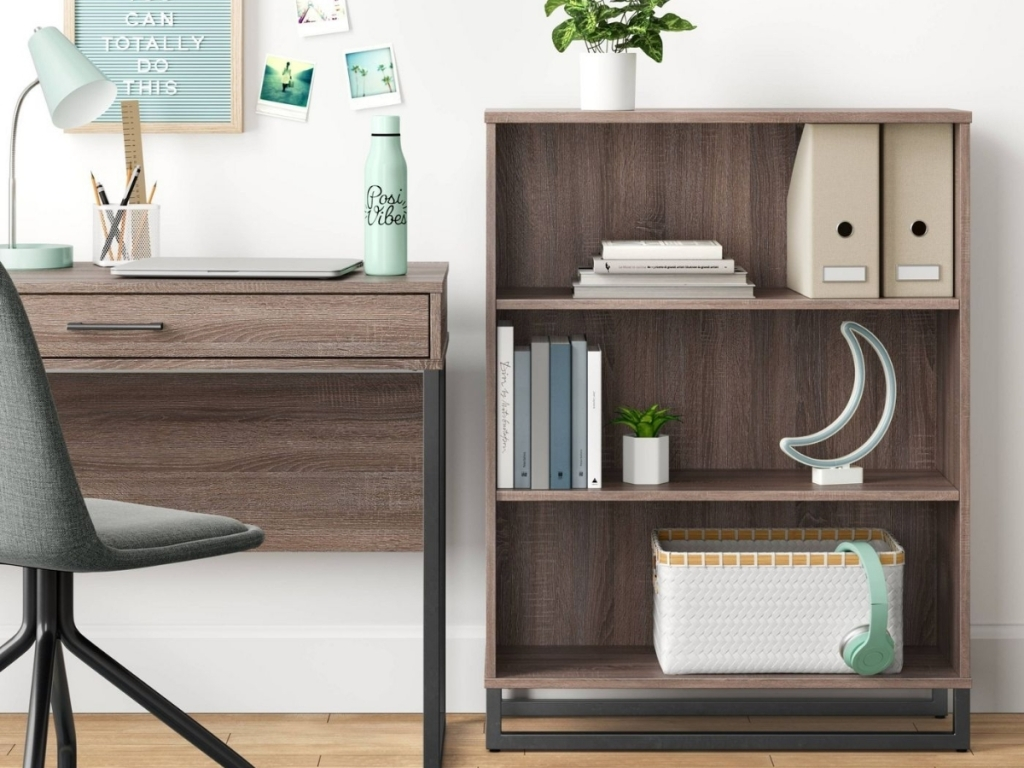 room essentials mixed material writing gray desk at target