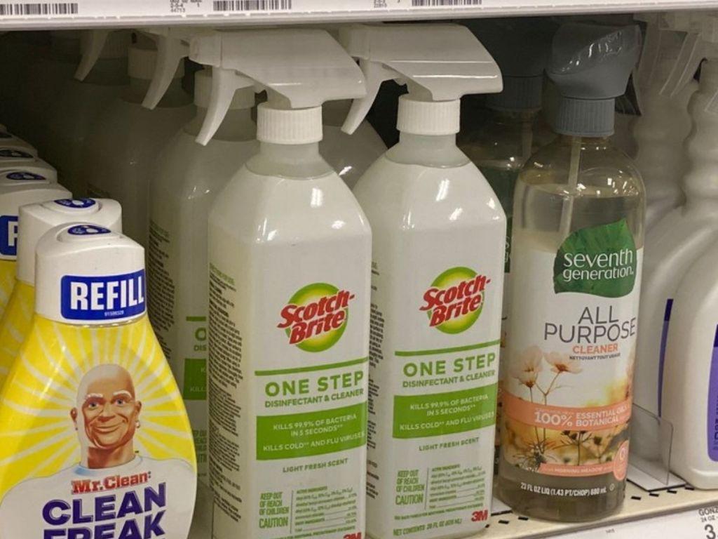 Scotch Brite Cleaner on store shelf