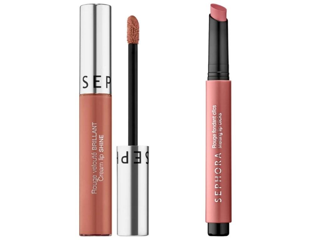 sephora liquid lipstick and tinted lip balm
