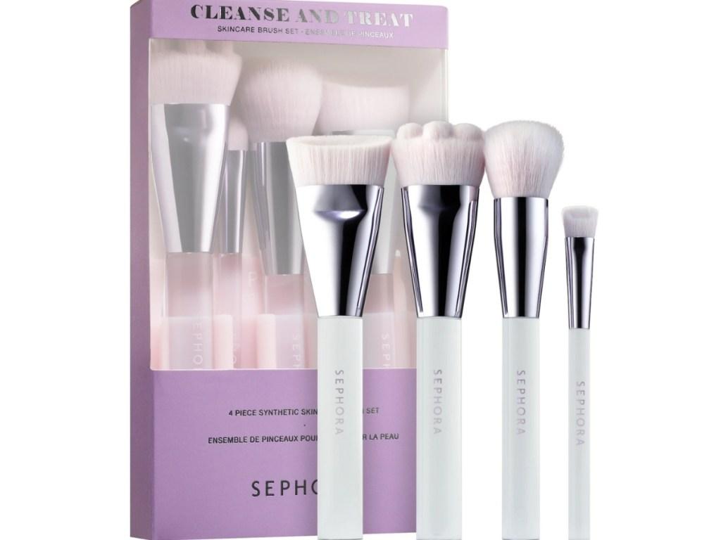 sephora cleanse and treat skincare brush set