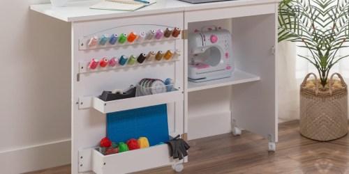 Folding Craft & Sewing Station w/ Wheels Just $104.99 Shipped (Regularly $200)