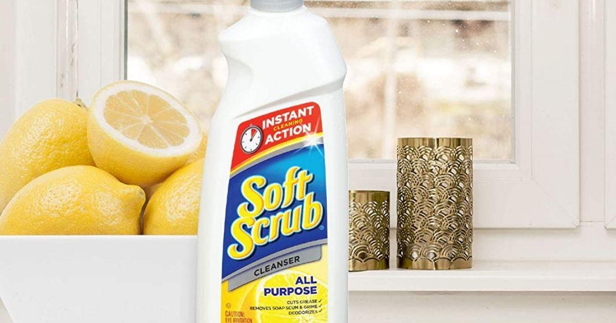 bottle of Soft Scrub