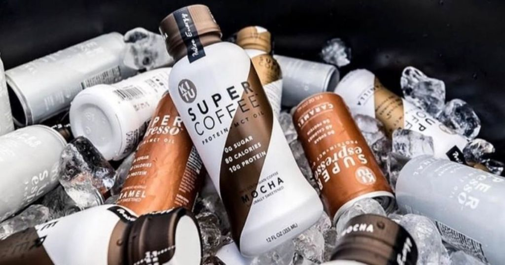 stack of Super Coffee drinks