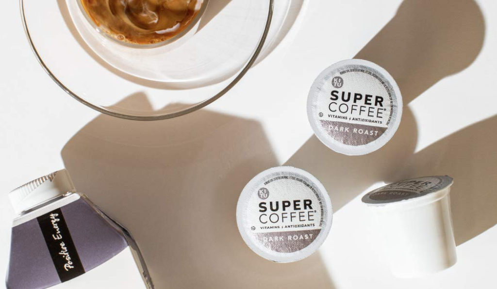 Super Coffee Pods by a cup of coffee