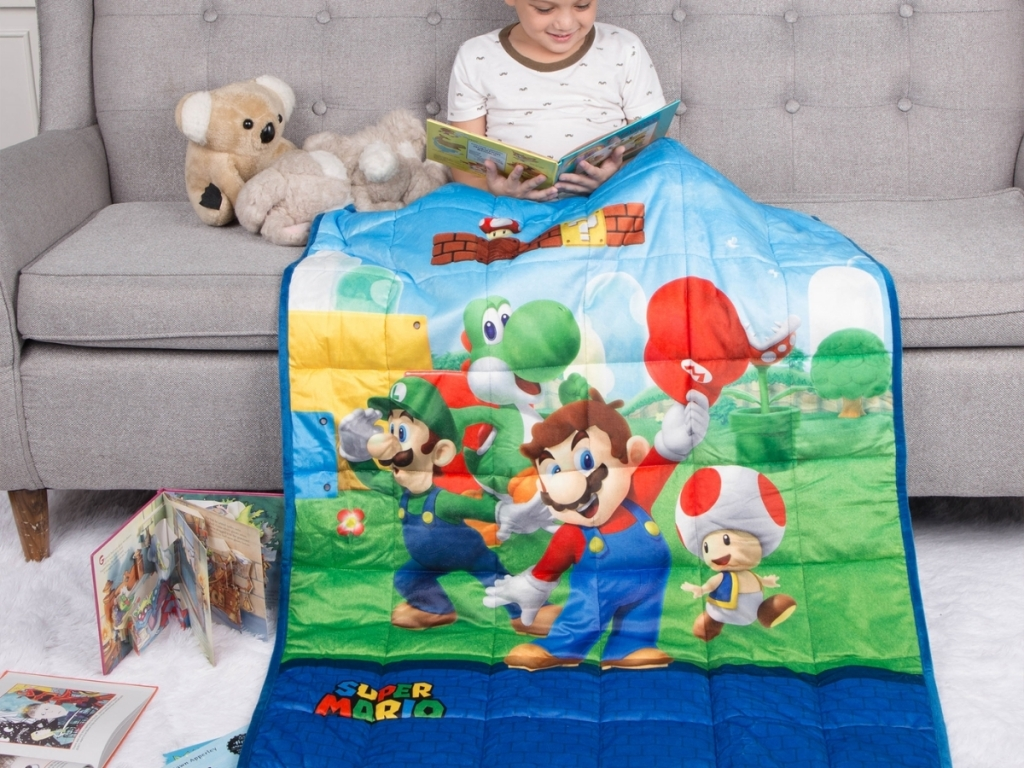 super mario weighted blanket for kids