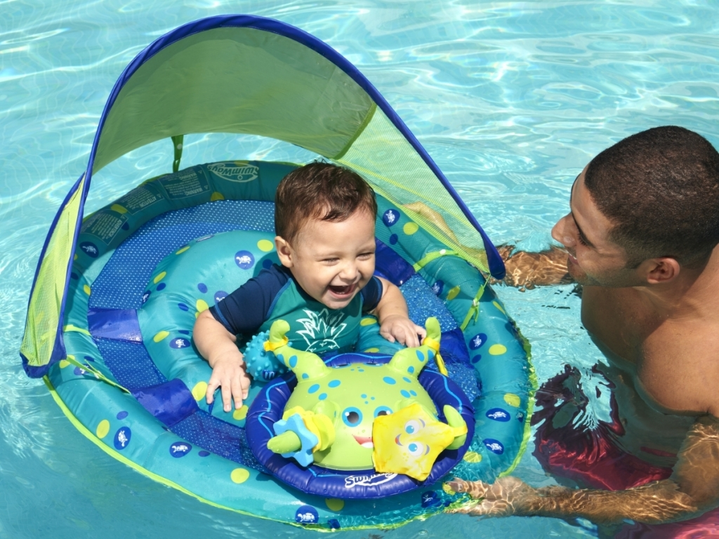 swimways baby spring octopus inflatable pool float