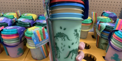 Color-Changing Tumblers & Straws 4-Packs Only $4.98 at Walmart | Dinosaur, Unicorn & More Designs