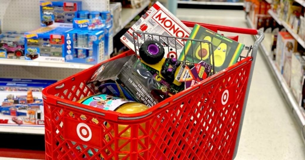 Target Shopping Cart with Toys