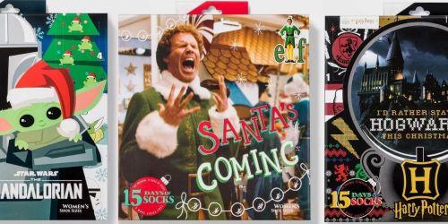 Women's 15 Days of Socks Advent Calendars Only $15 on Target.com | Harry Potter, Disney, Elf & More