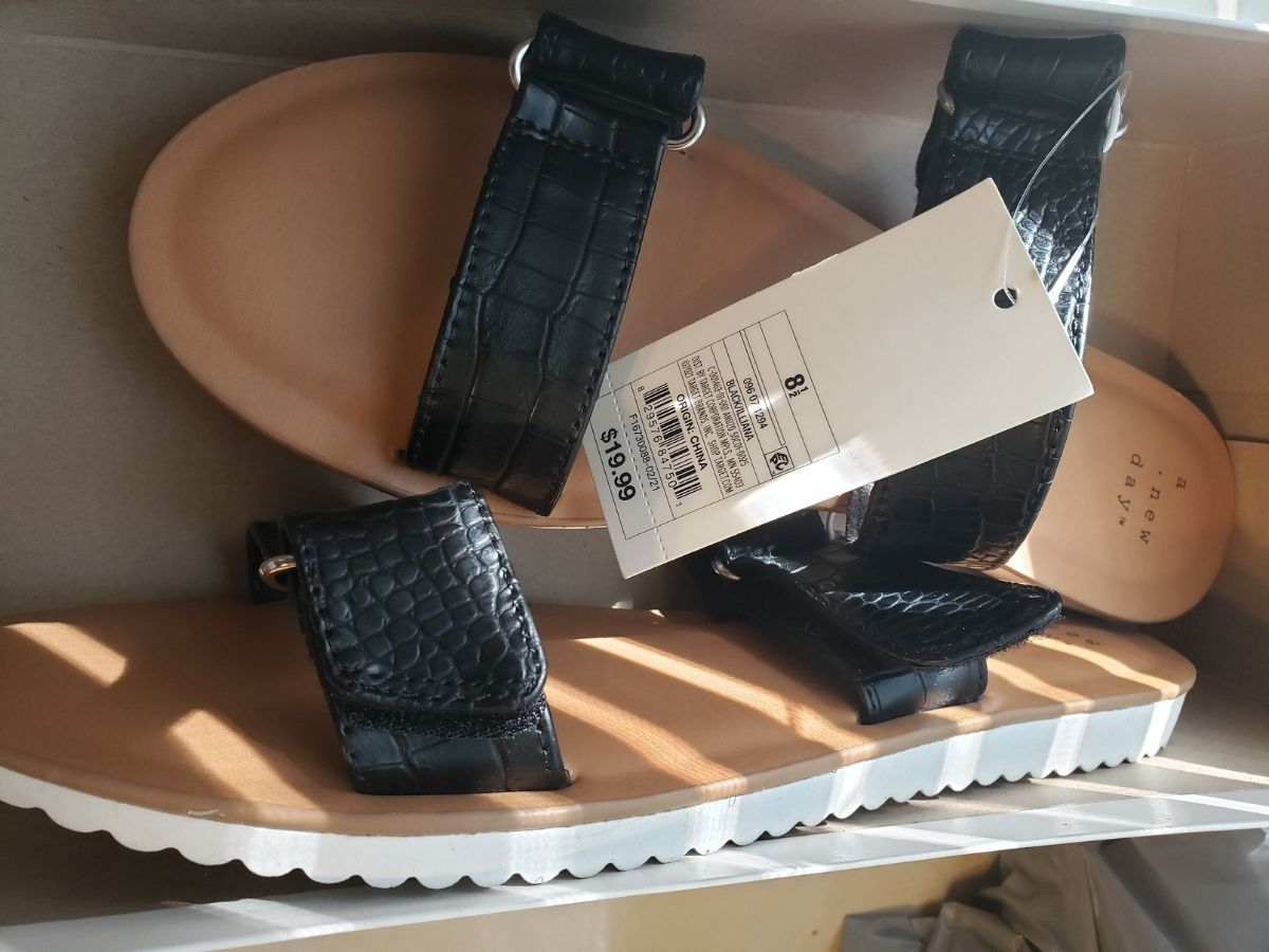 womens black strappy sandals wtih white soles