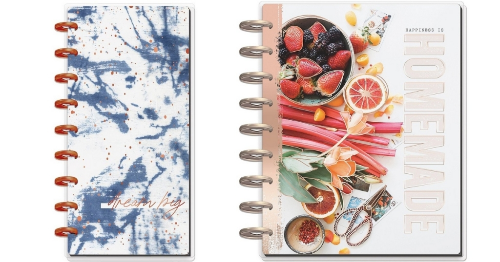 skinny indigo planner and homemade recipe book from the happy planner