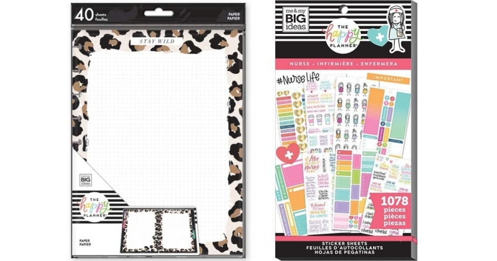 the happy planner page refills and nurse sticker set