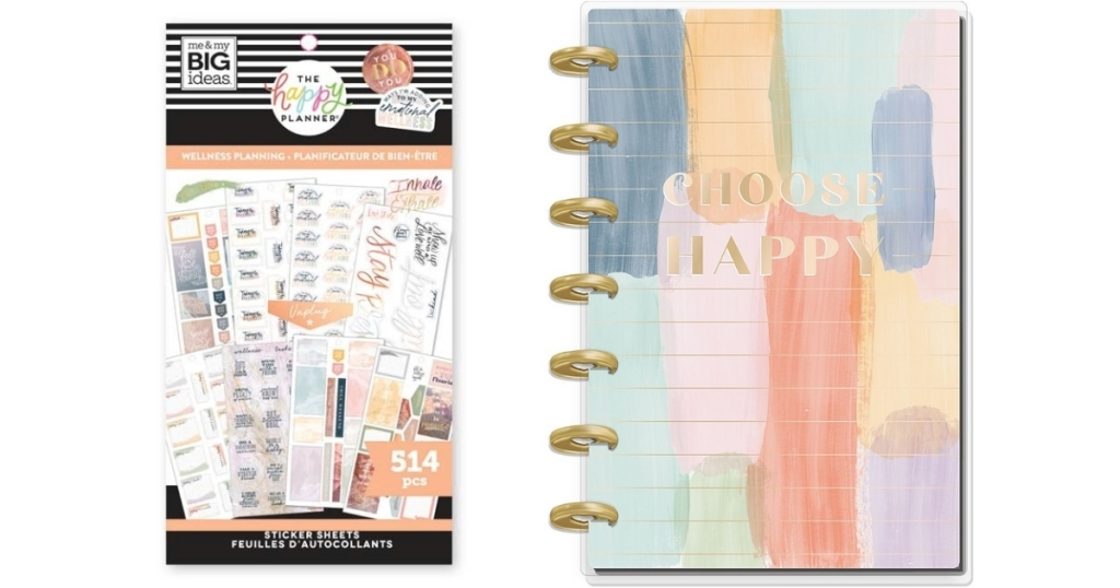 wellness planning stickers and choose happy planner from the happy planner
