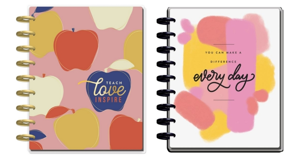 two 12 month teaching planners from the happy planner