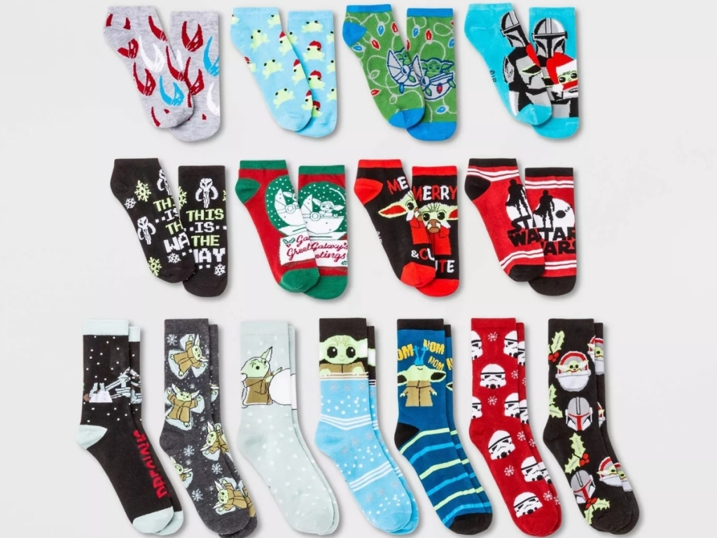 15 days of socks advent calendar the mandalorian