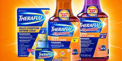 Theraflu Daytime/Nighttime Severe Cold & Cough Syrup 2-Pack Just $5.55 on Amazon (Regularly $13)