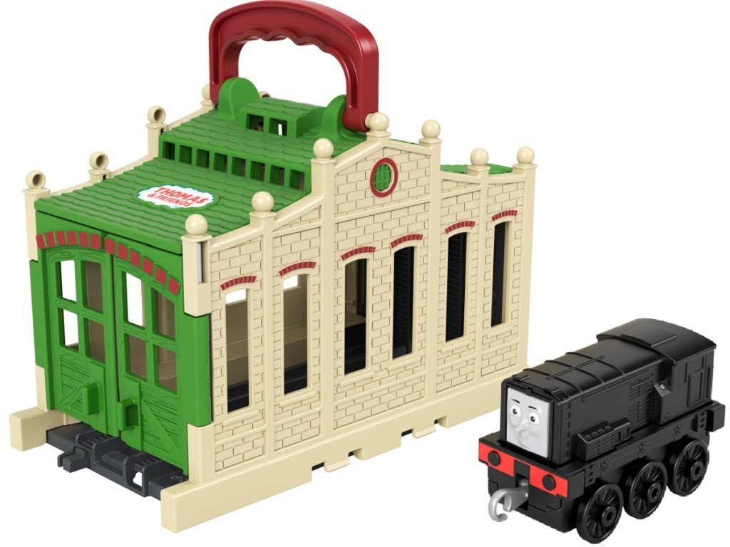 Thomas & Friends Connect & Go Diesel Train Engine And Shed