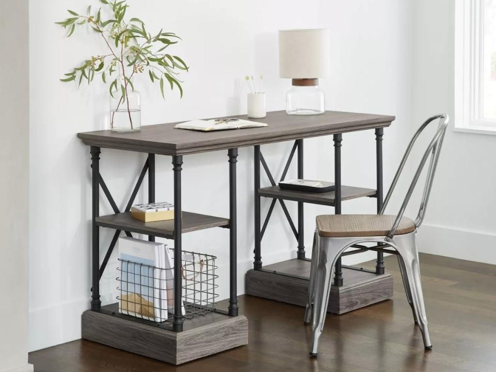threshold conway desk with storage from target