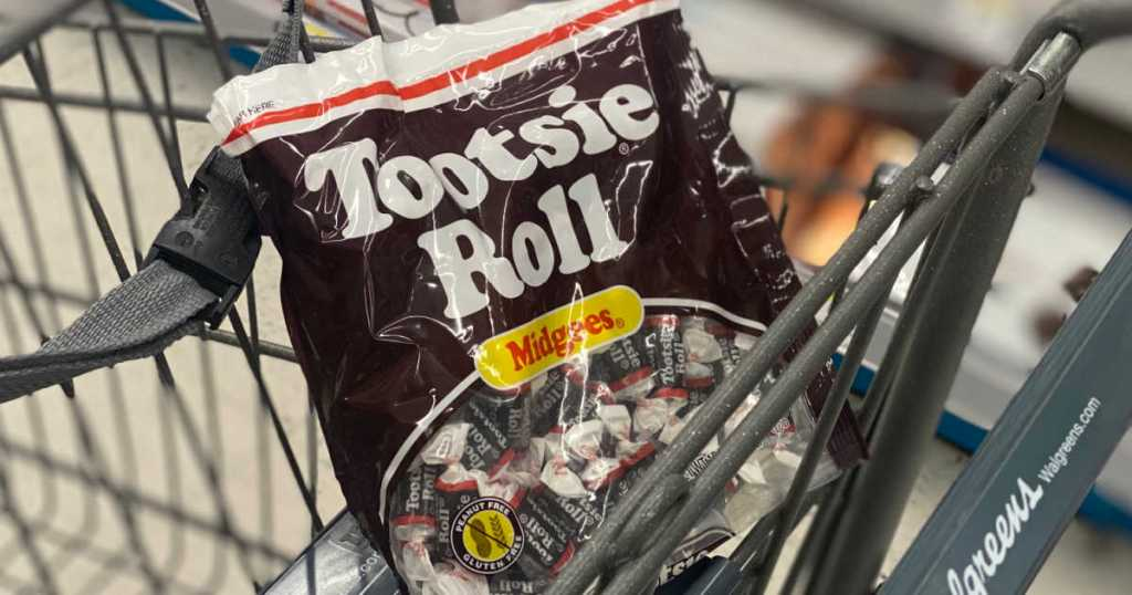 chocolate roll candies in cart