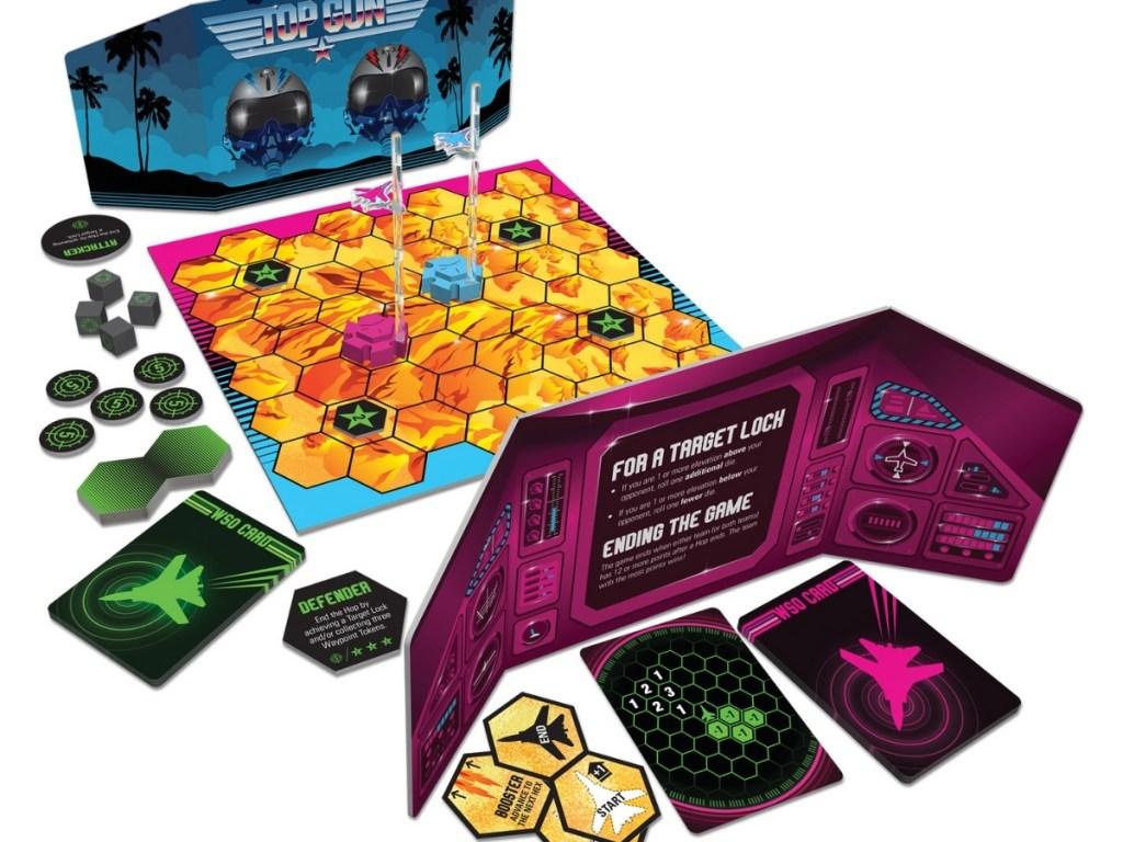 top gun strategy board game setup