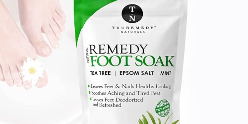 Natural Foot Soak Only $9 Shipped on Amazon | Helps w/ Cracked Heels, Athlete's Foot & More