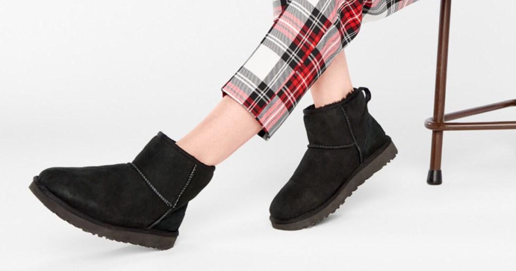 black ugg mini boots