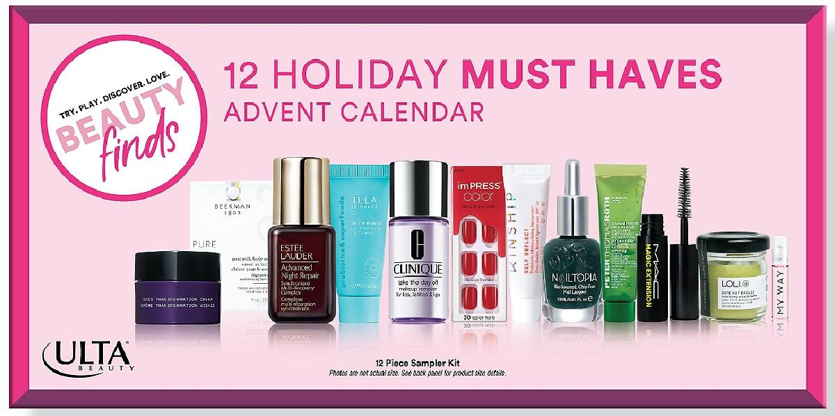ulta beauty 12 holiday must haves advent calendar