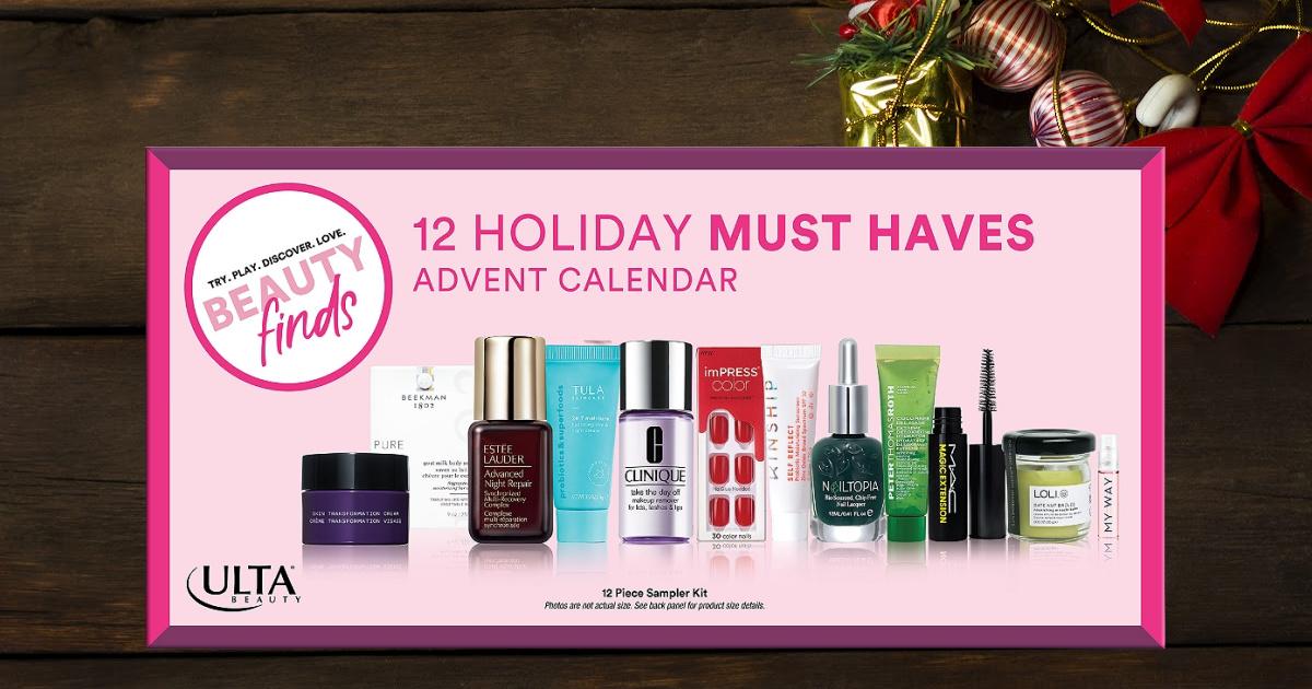 Ulta Beauty: 12-Piece Beauty Advent Calendar $14.99