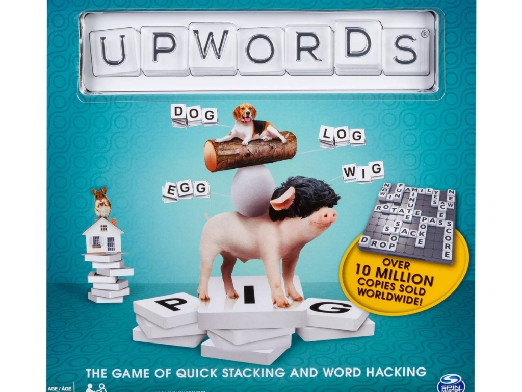 upwords board game box